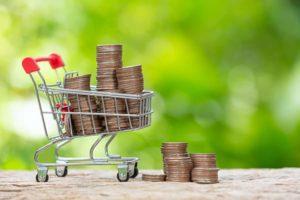 מטבעות-בעגלת-קניות-למה כדאי לקנות קרקע חקלאית?